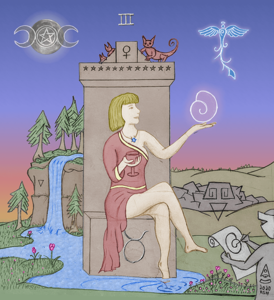 Empress Beholder Sphere Tarot Art colored