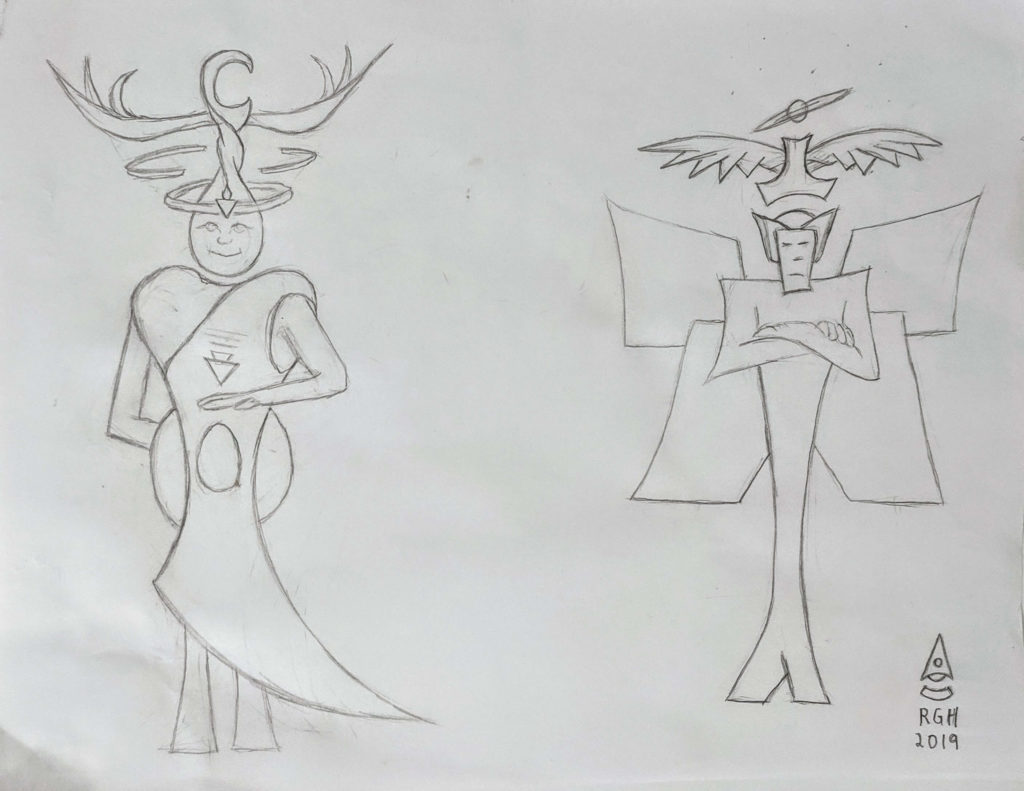 Empress and Emperor Early Sketch