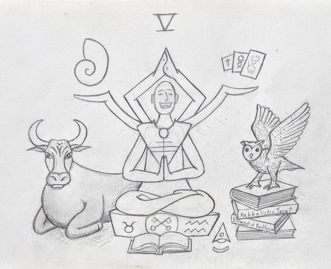 The Hierophant Drawing