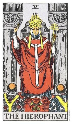 Traditional Heirophant Tarot Card